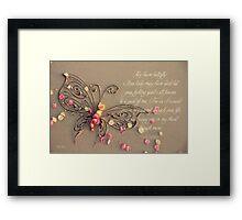 Lost For Words - November 2014 Framed Print