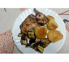 Lemon Garlic and Herb Chicken Photographic Print