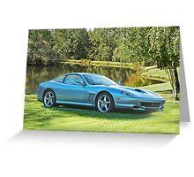 2000 Ferrari 550 Maranello Greeting Card