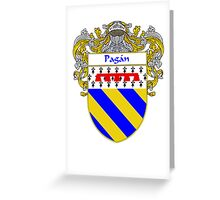 Pagan Coat of Arms/Family Crest Greeting Card