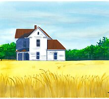 House On Wheat by Anthony Billings