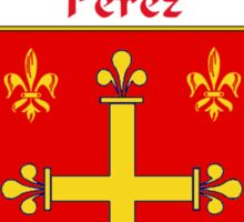 Perez Coat of Arms/Family Crest Sticker