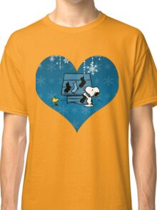 Snoopy Blue Holiday  Classic T-Shirt