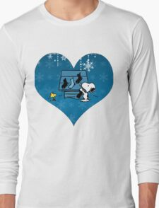 Snoopy Blue Holiday  Long Sleeve T-Shirt