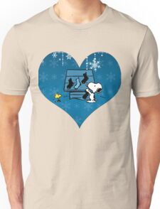 Snoopy Blue Holiday  Unisex T-Shirt