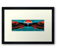 Face To Face - Abstract Art By Sharon Cummings Framed Print