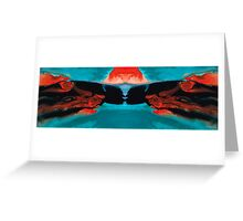 Face To Face - Abstract Art By Sharon Cummings Greeting Card