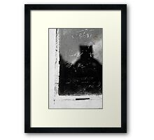 Scratched in Time Framed Print