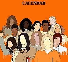 Orange is the New Black Calendar by theleafygirl