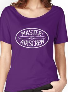 Master Airscrew Logo (White) Women's Relaxed Fit T-Shirt