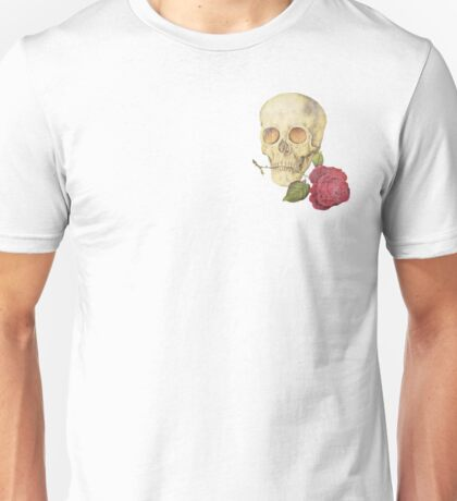 Skull with Rose Crest Unisex T-Shirt