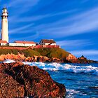 Day's End - Pigeon Point Lighthouse by Mark Tisdale