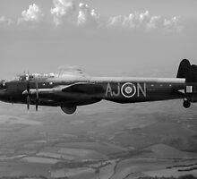 Dambusters Lancaster AJ-N black and white version by Gary Eason