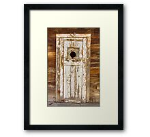 Classic Rustic Rural Worn Old Barn Door Framed Print