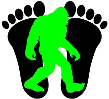 Neon Green Bigfoot by kwg2200