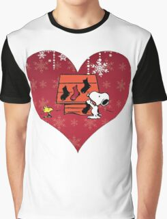 Snoopy Red Holiday Graphic T-Shirt