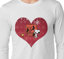 Snoopy Red Holiday Long Sleeve T-Shirt