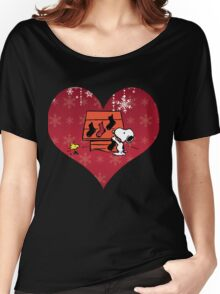 Snoopy Red Holiday Women's Relaxed Fit T-Shirt