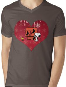 Snoopy Red Holiday Mens V-Neck T-Shirt