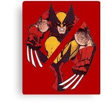 Wolverine Sliced (Red) Canvas Print
