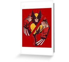Wolverine Sliced (Red) Greeting Card