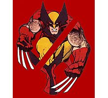 Wolverine Sliced (Red) Photographic Print