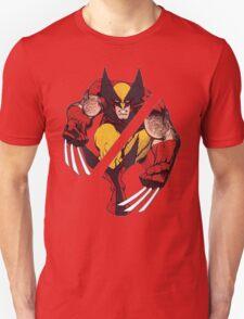 Wolverine Sliced (Red) Unisex T-Shirt