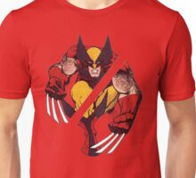 Wolverine Sliced (Red) Unisex T-Shirt