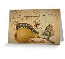 Vintage Botanical & French Ephemera - Distressed Texture Notecard - Botanical Art Greeting Card