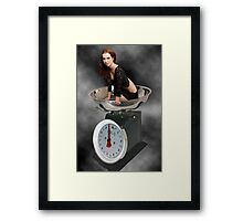 ❀◕‿◕❀ HAPPINESS IS A SCALE THAT LIES ❀◕‿◕❀ Framed Print