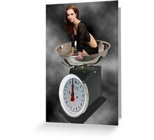 ❀◕‿◕❀ HAPPINESS IS A SCALE THAT LIES ❀◕‿◕❀ Greeting Card