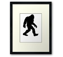 Bigfoot Silhouette Framed Print