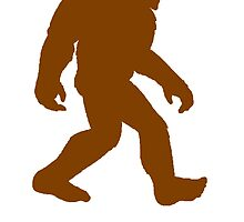 Brown Bigfoot Silhouette by kwg2200