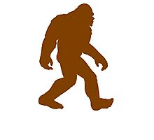 Brown Bigfoot Silhouette Photographic Print