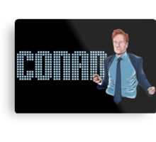 Conan O'Brien - Comic Timing Metal Print