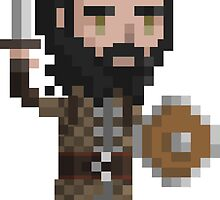 Pixel Blackwall - Dragon Age by maicakes
