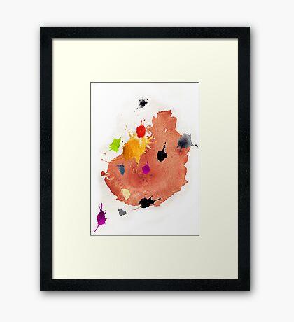 Abstract watercolor blots Framed Print