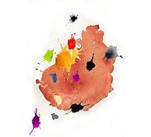 Abstract watercolor blots Photographic Print