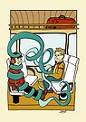 Music on your own in the train by Sanne Thijs