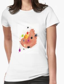 Abstract watercolor blots Womens Fitted T-Shirt