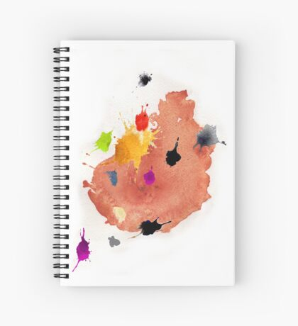 Abstract watercolor blots Spiral Notebook