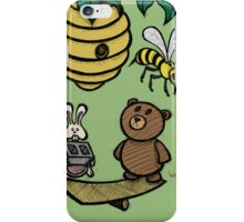 Teddy Bear And Bunny - Without Risk There Is No Reward iPhone Case/Skin