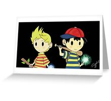 Lucas and Ness Greeting Card