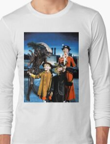 Alien in Mary Poppins Long Sleeve T-Shirt