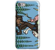 Teddy Bear And Bunny - Lazy Summer Day iPhone Case/Skin