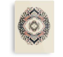 Radial Typography  Metal Print
