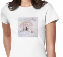 GOING HOME FOR CHRISTMAS Womens Fitted T-Shirt