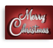 Merry Christmas Greetings Card Canvas Print