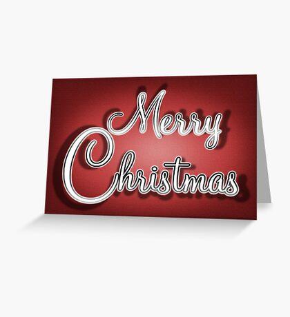 Merry Christmas Greetings Card Greeting Card