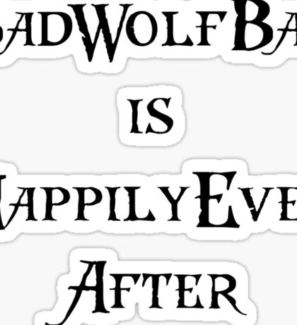 Dr. Who: Bad Wolf Bay Sticker
